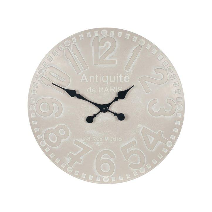 Minimalist Wall Clock; Putty