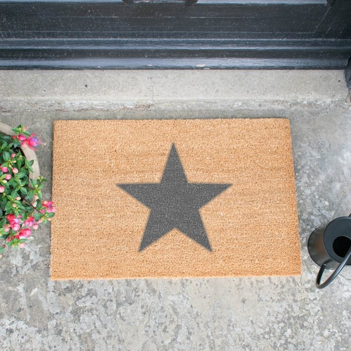 Artsy Star Doormat, Grey