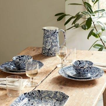 Ink Blue Hibiscus Rectangular Platter