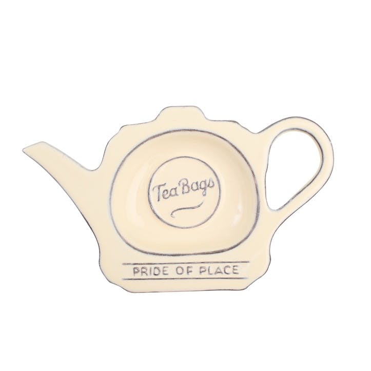 Pride of Place Tea Bag Tidy, Old Cream
