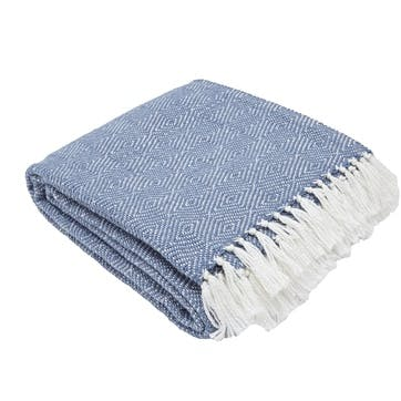 Diamond Blanket, 2.3 x 1.3m, Navy
