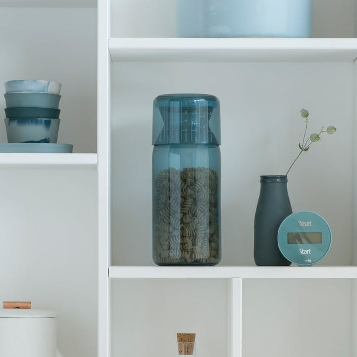 Storage Jar with Measuring Cup, Mint