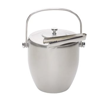 Stainless Steel Ice Bucket with Lid and Tongs