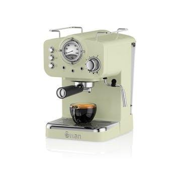 Retro Espresso Machine, Green