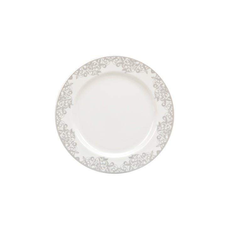 Filigree Silver Small Plate, 17cm