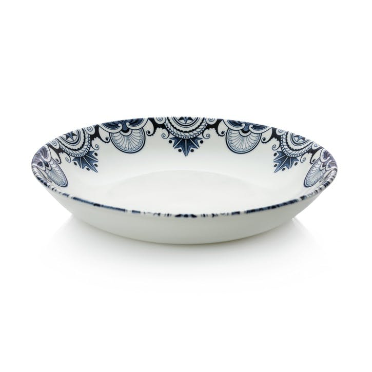 Ink Blue Palisade Pasta Bowl