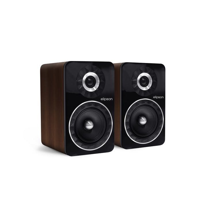 Prestige Facet PF6B Bluetooth Phono Speakers, Walnut