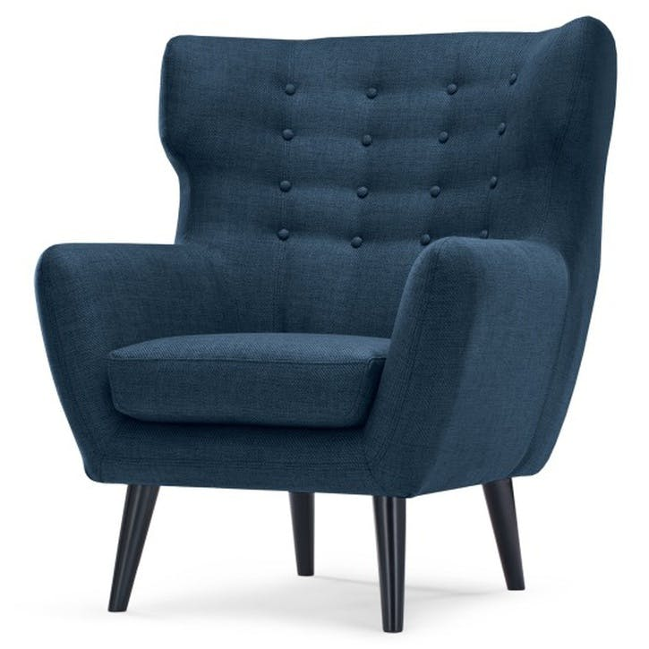 Kubrick Wing Back Chair, Scuba Blue