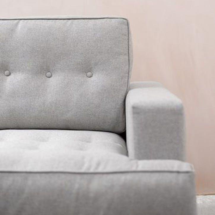 Mabel Love Seat, Deep Turquoise Cotton Matt Velvet
