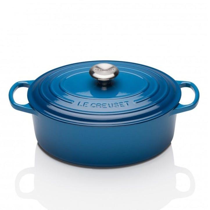 Cast Iron Oval Casserole - 29cm; Marseille Blue