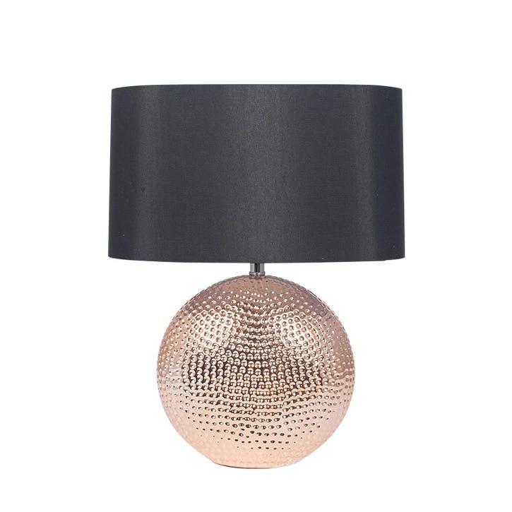 Mabel Ceramic Table Lamp; Copper