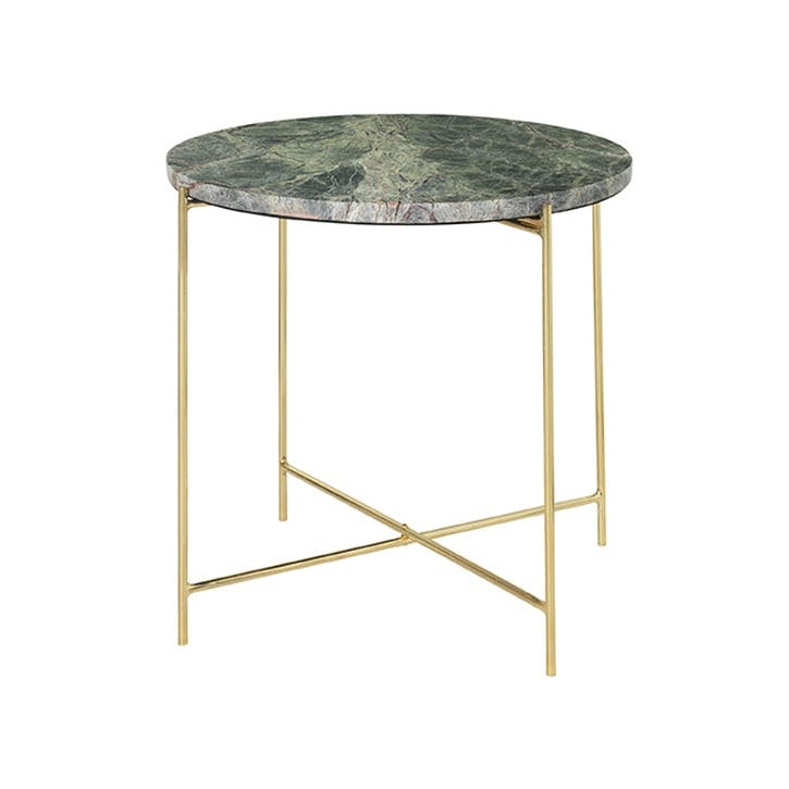 Freja Marble Tables, Set of 2, Forest Green