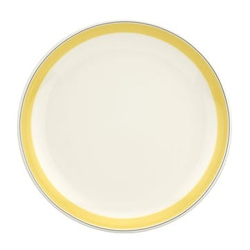 """Westerly Coupe Plate, Set of Four - 10.5""""; Yellow Band"""