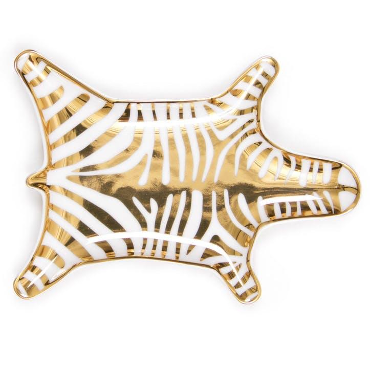 Carnaby Zebra Stacking Dish, Gold