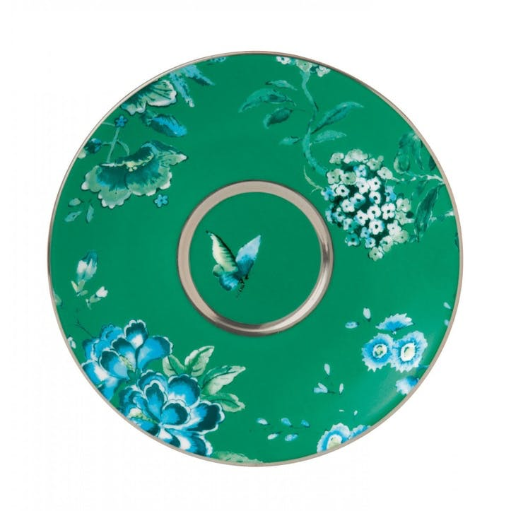 Chinoiserie Tea Saucer, Green