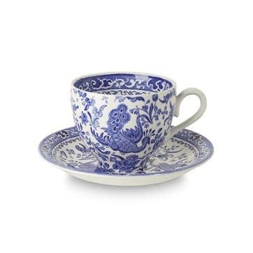 Regal Peacock Teacup, 187ml, Blue