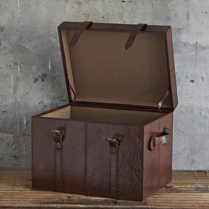 Leather Trunk, Small