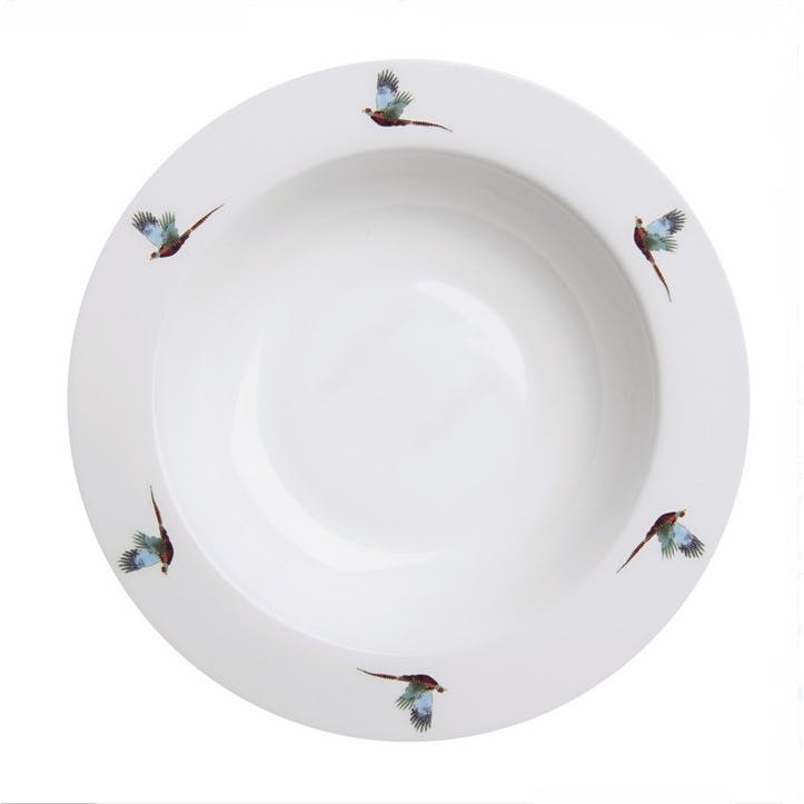 'Pheasant' Flying Pasta Bowl