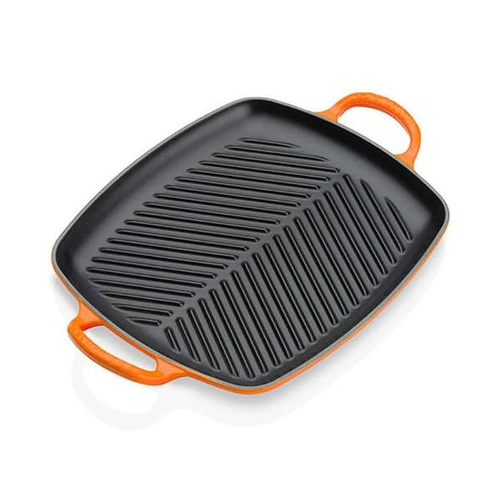 Cast Iron Rectangular Grill - 30cm; Volcanic