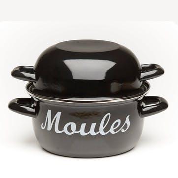 'Moules' Mussel Pot, Black
