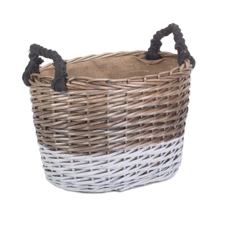 Large Oval Triple Tone Chunky Storage Basket