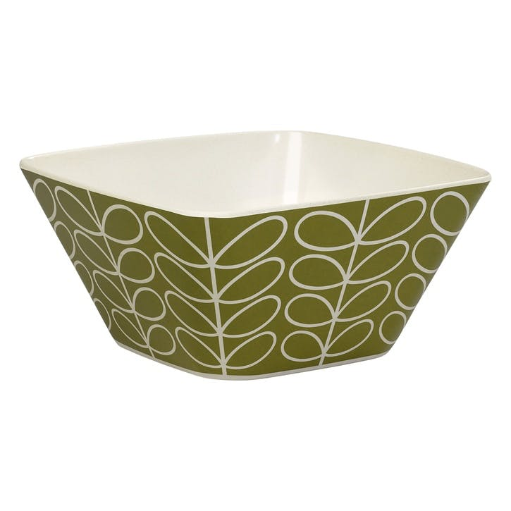 Bamboo Salad Bowl, Linear Stem Seagrass