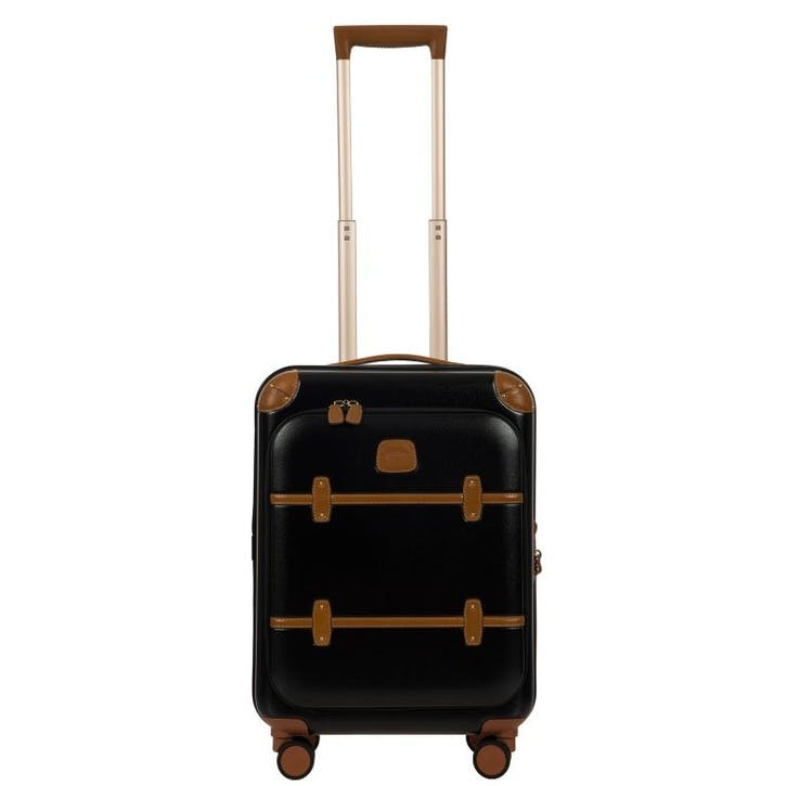 Bellagio 2 Cabin Suitcase with Front Pocket, 55cm; Black Tobacco