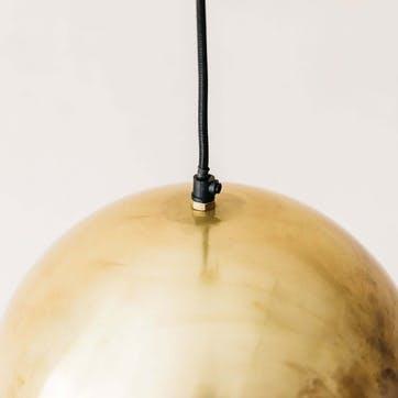 Antiqued Brass Ball Light