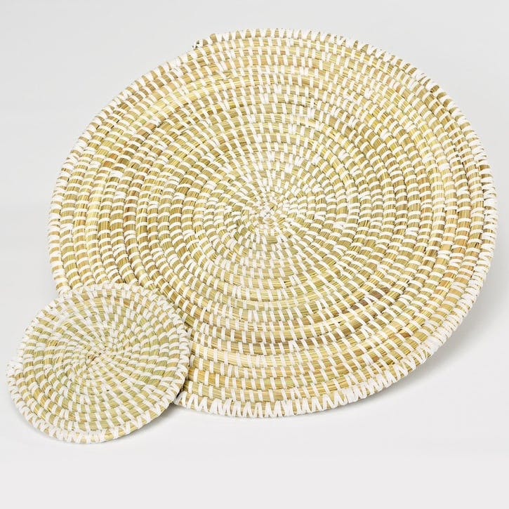 Handwoven Coaster: Natural
