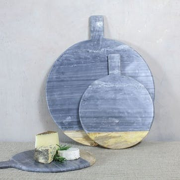Bwari Round Marble Board - Small; Grey