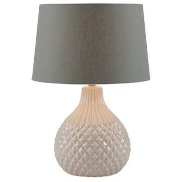 Rhea Geo Ceramic Table Lamp; Grey