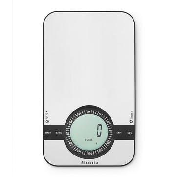 Rectangular Digital Kitchen Scales, Matt Steel