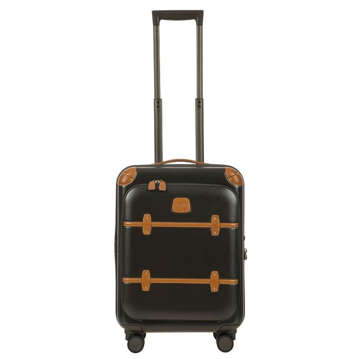 Bellagio 2 Cabin Suitcase with Front Pocket, 55cm; Olive