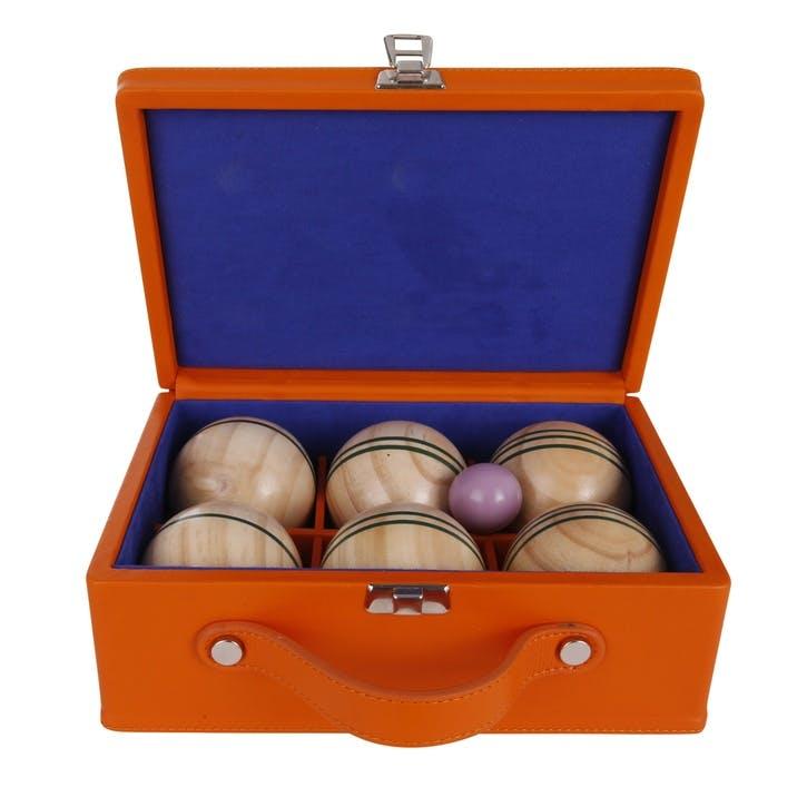 Luxury Indoor Boules Set, Tangerine