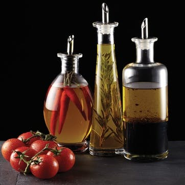 Italian Glass Oil & Vinegar Bottle