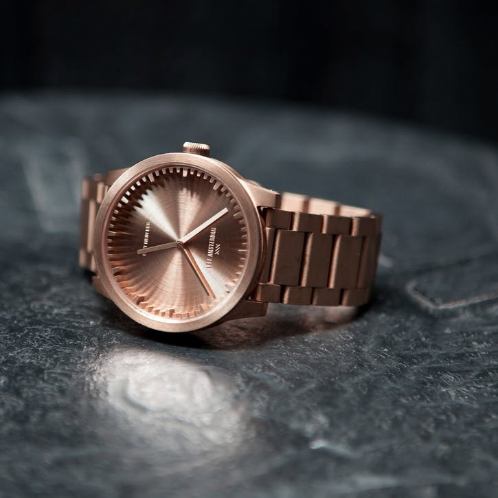 Tube Watch S38, Rose Gold
