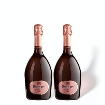 Ruinart Rosé, Duo Case, Rose and Blanc de Blancs Mix