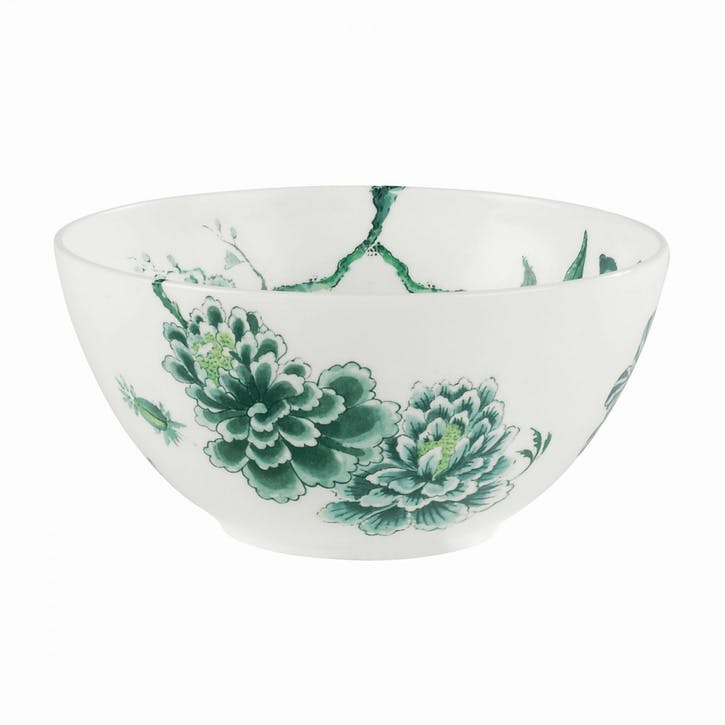 Chinoiserie Salad Bowl, White