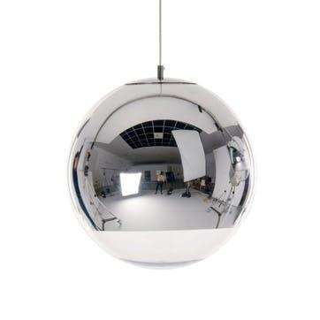 Mirror Ball Pendant Light, 40cm, Chrome