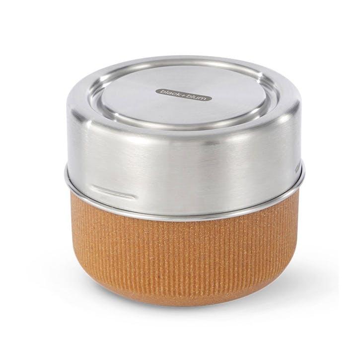 Glass Lunch Pot, 600ml, Almond