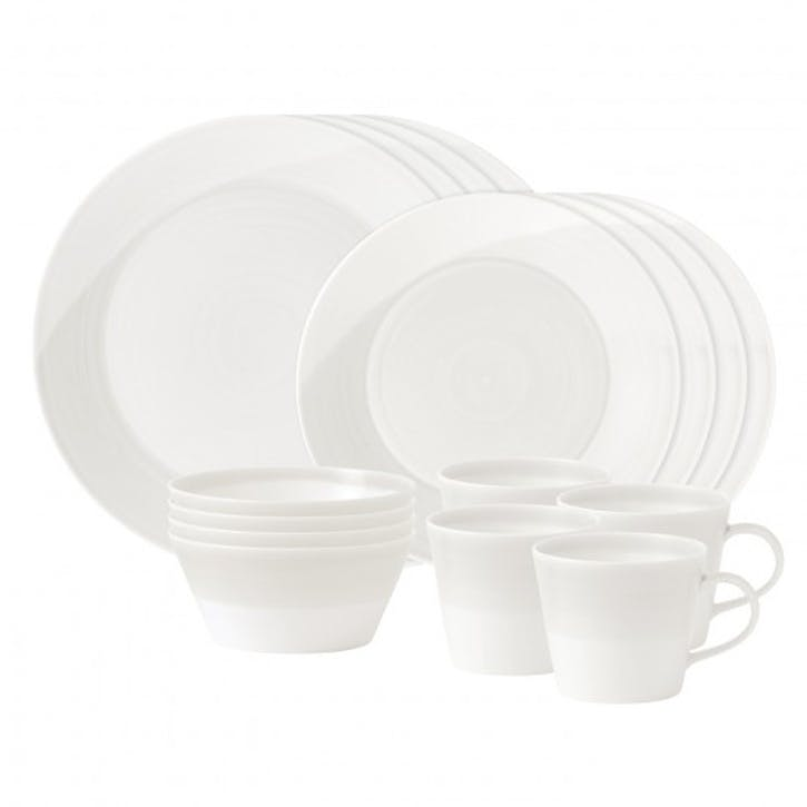 1815 16 Piece Dinner Set, White