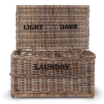 Dark and Lights Laundry Rattan Chest