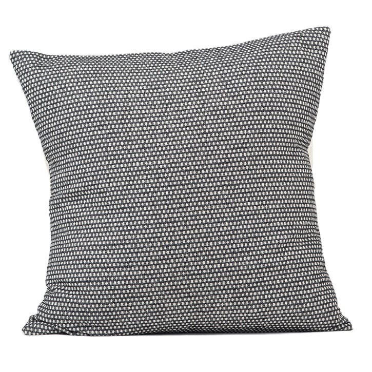 Classic Clarendon Cushion - 60cm; Linen On Black