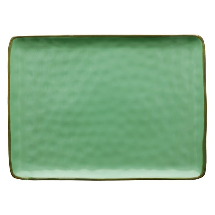 Concerto Serving Platter, Large, Tiffany Green