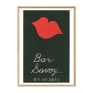 Matchbox Label, Bar Savoy Framed Art