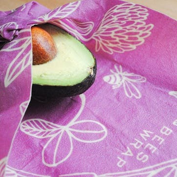 Clover Print Food Wraps, Pack Of 3, Small/Med/Large