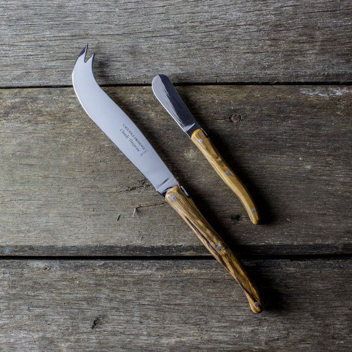 Claude Dozorme Laguiole 2 Piece Cheese & Butter Knife Set