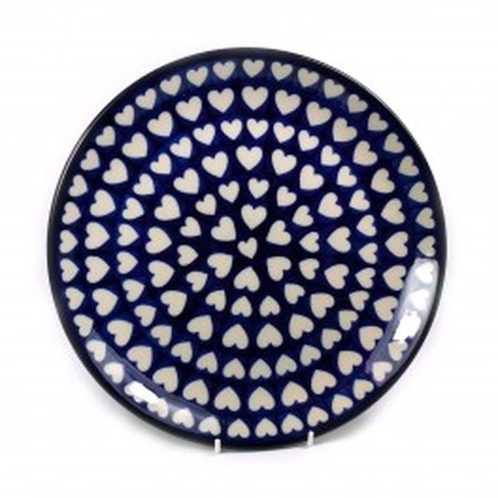 Hearts Dinner Plate, 25cm