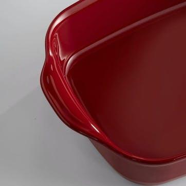 Rectangular Oven Dish - Large; Burgundy