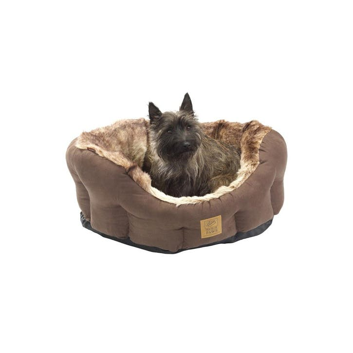 Arctic Fox Snuggle Oval Dog Bed, XSmall